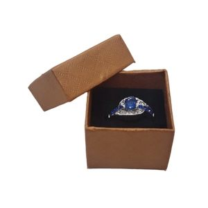 3/$18. Silver Tone Fashion Ring w/Blue Rhinestones
